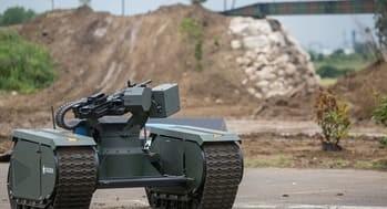 robot militar asesino utilizado en la Industria Militar. Son robots de combate utilizados para la Guerra de Robots