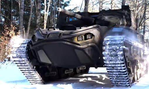 robot militar y de combate Ripsaw 45 m5